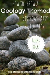 How to Throw a Geology-Themed Birthday Party for Kids