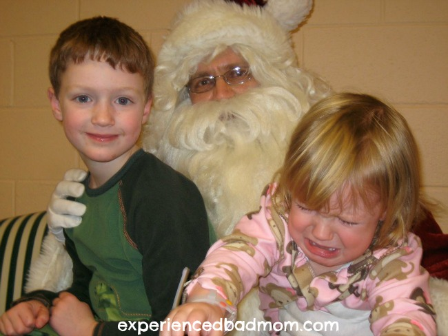 Crying When Meeting Santa