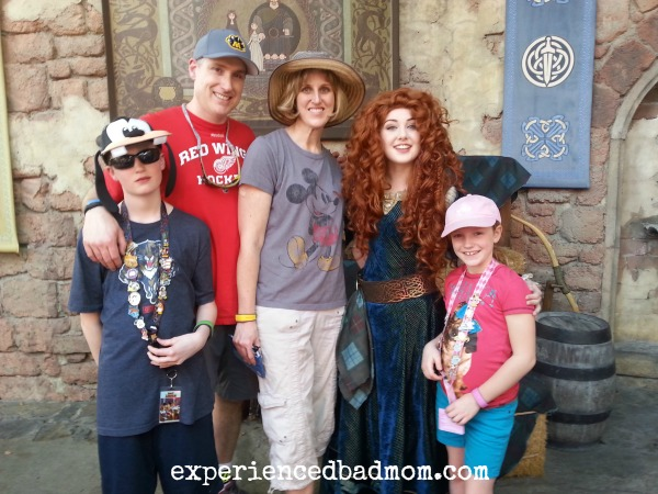 Tween not happy meeting Merida