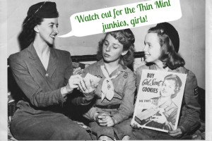 Thin Mint Junkies and Other Customers at the Girl Scout Cookie Booth