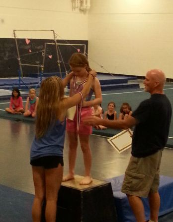 Gymnastics camp is fun!