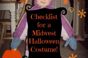 Checklist for a Midwest Halloween Costume