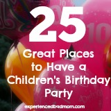 25 Great Places to Have a Children's Birthday Party