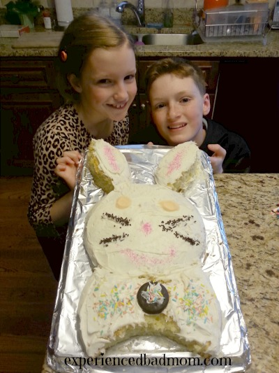 Easter Joy - making a bunny cake is a family-tradition