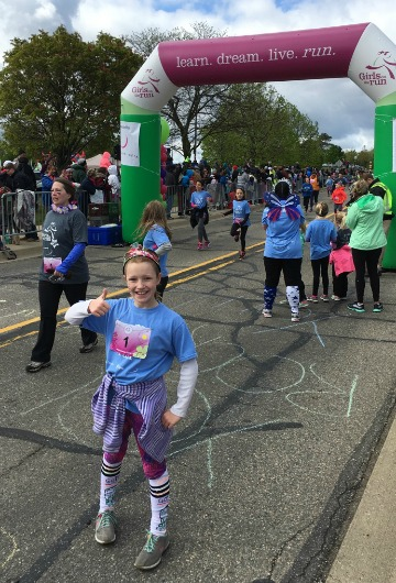 My daughter completed her first 5k thanks to Girls on the Run!