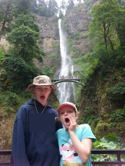 Seen and unseen on our family vacation: Multnomah Falls