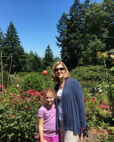 Seen and unseen on our family vacation: Portland rose garden