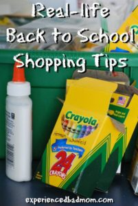 Real-life Back to School Shopping Tips
