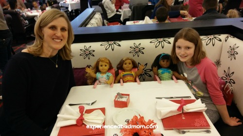 Dinner at the American Girl Place Cafe in Chicago