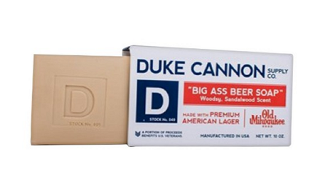 Check out Duke Cannon soap as a fantastic gift idea for Father's Day.