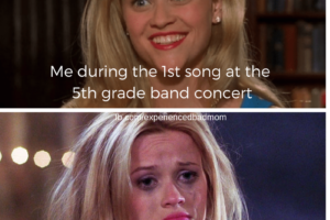 Accurate picture of me during the year-end fifth grade band concert.