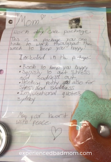 Care package for dealing with pet loss grief - Experienced Bad Mom